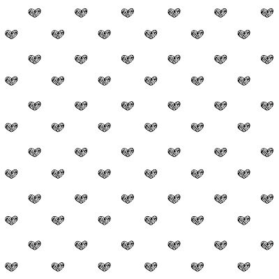 ♡♡♡♡ FREE printable gift wrapping papers in black-and-white with TINY doodle HEARTS ♡♡♡♡