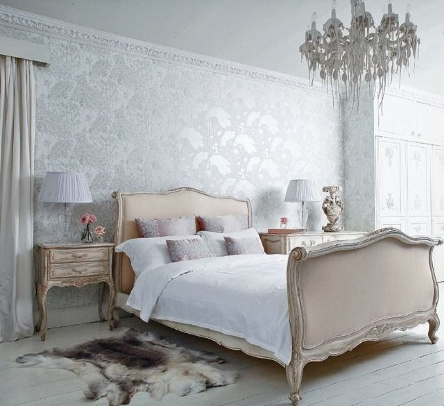 schlafzimmer ideen gestaltung shabby chic französisch vintage