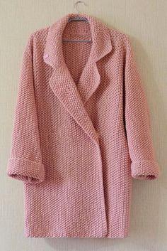 hand-knit coat