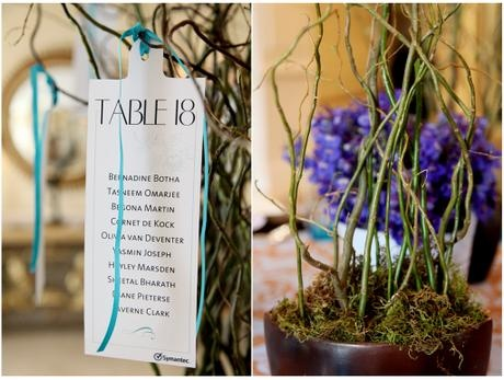 Special shape table tags - Canvas Stationery Boutique