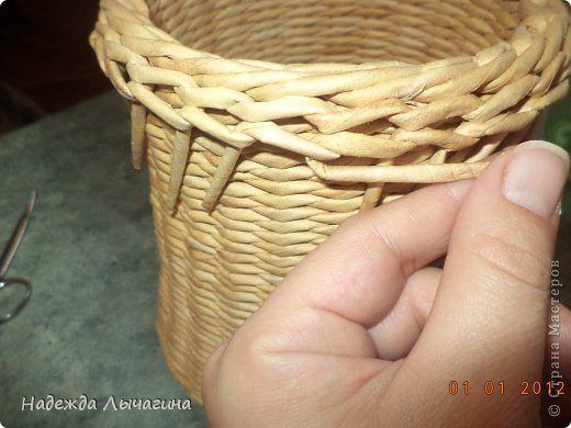 Tutorial - rim (Мастер-класс Поделка изделие Плетение МК Загибки Бумага газетная Трубочки бумажные фото 29)