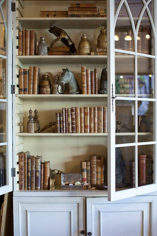 How to display antique books ... might mix with moonshine jugs