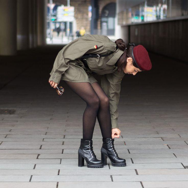 #ootd #military #punk #beret #parisienne #Laurabhrd