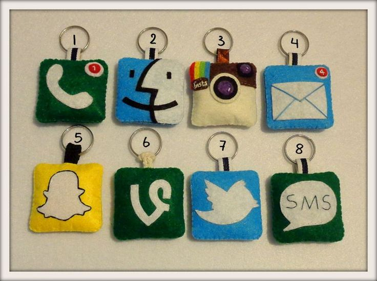 Sosyal Medya İkon Anahtarlıklar Zet.com'da 15 TL