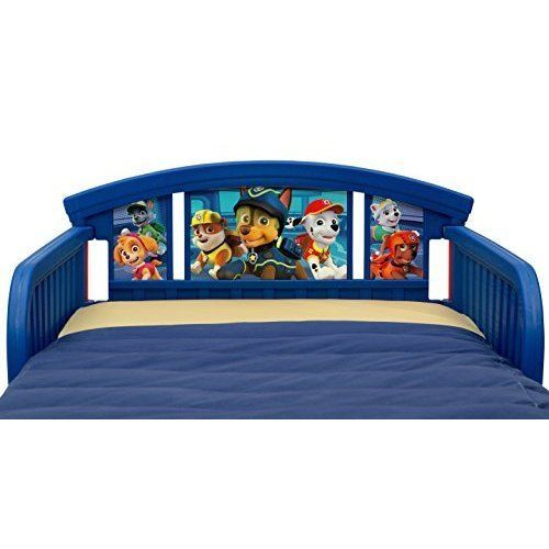 Kids Toddler Bed Frame Paw Patrol Pups Children Transitional Bedroom Furniture DeltaChildren