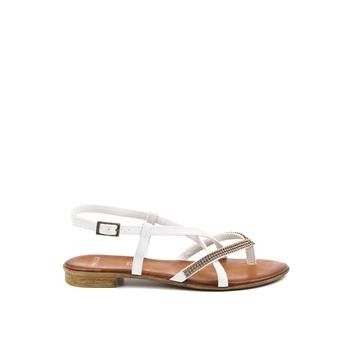 Manfield - witte sandalen #HoliFestivalofColours #wit #white