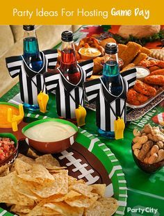 Are you ready for some football? If you're hosting game day festivities, Party City has your back. Host game day in style with football serveware featured on plates, platters, drink cozies, containers, and decorations. Check out more crowd-pleasing ideas that will score you major points with your guests at http://PartyCity.com