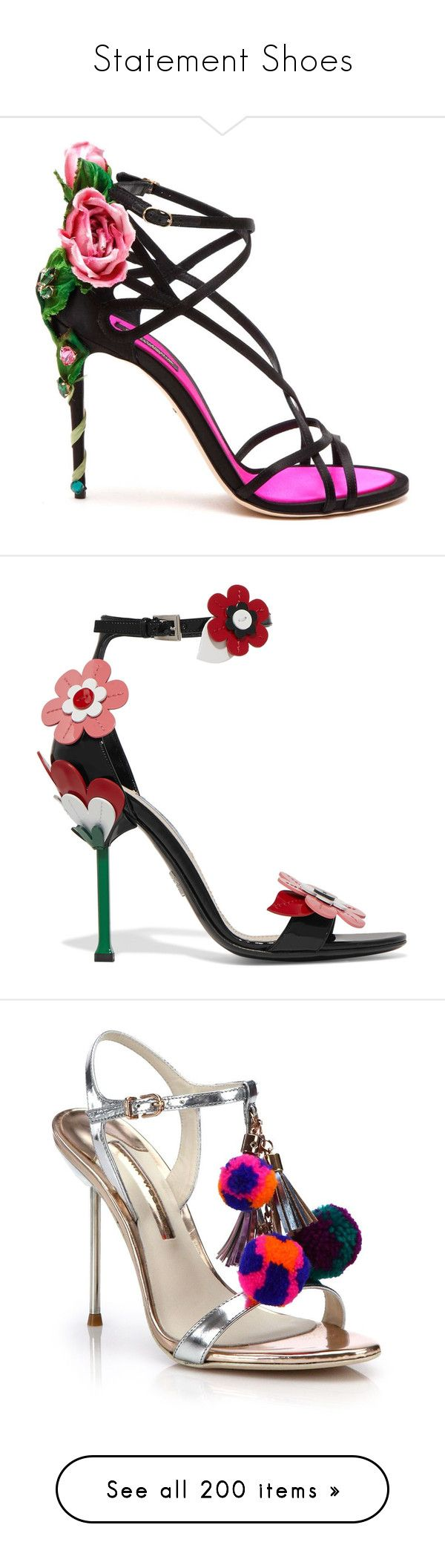 """""""Statement Shoes"""" by happilyjynxed on Polyvore featuring shoes, sandals, heels, print shoes, embellished sandals, high heeled footwear, dolce gabbana sandals, patterned shoes, prada sandals and strap sandals"""