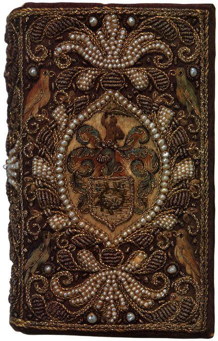 jewel embroidered book