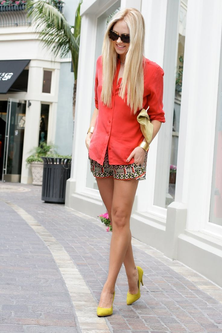 tribal shorts with structured top