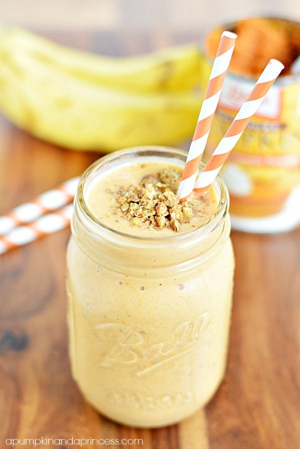 Protein Pumpkin Shake- this would be great for breakfast since I never have enough time in the morning!