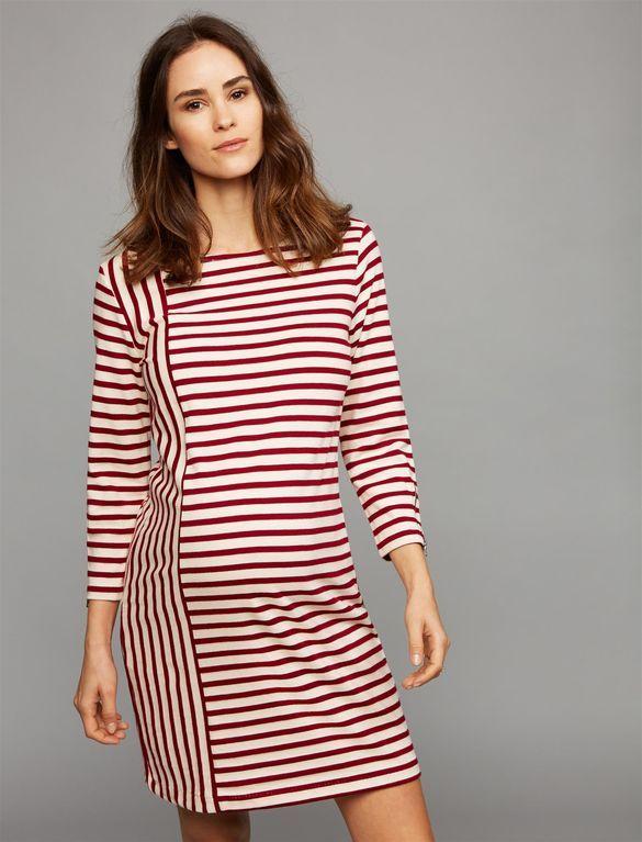 Three Dots Striped Maternity Dress, Stripe