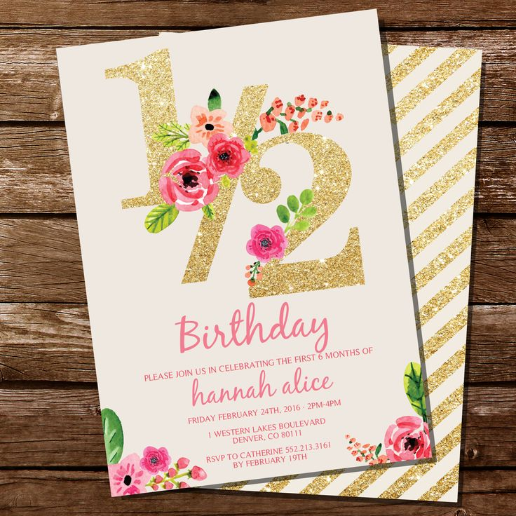 17 best Half Birthday Party images on Pinterest | Half birthday ...