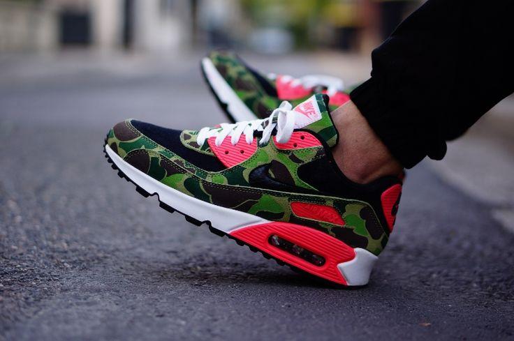 #Nike Air Max 90 Infrared Camo #Atmos #sneakers - follow - ralphiscorner.tumblr.com use repcode ( ralphiwarren ) for karmaloop discounts http://www.karmaloop.com