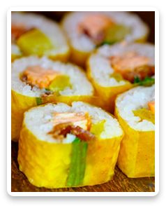 mango salmon rolls