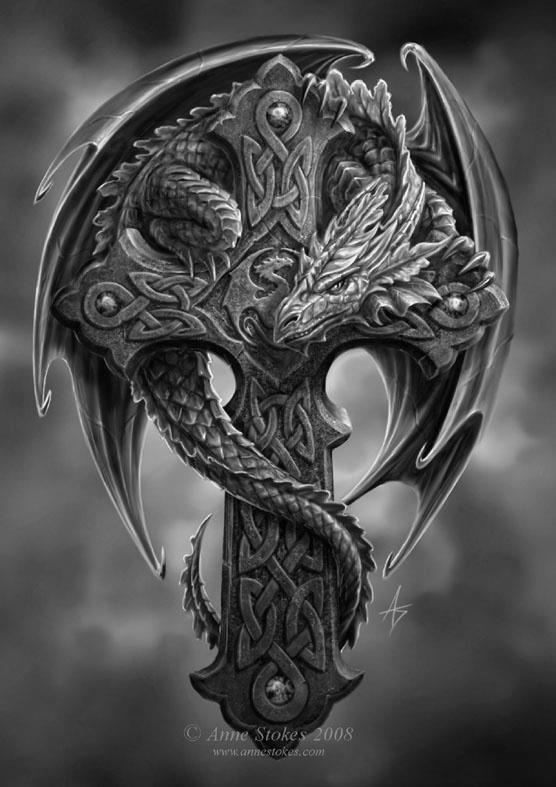 картинка дракон на кресте думают что любитель