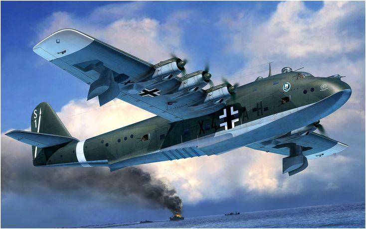 Blohm & Voss BV 222 V7 de la Lufttransportgruppe See 222, unidad llamada tambien los 'Vikingos' en acción en el teatro del Mediterraneo. Egbert Friedl. Más en www.elgrancapitan.org/foro