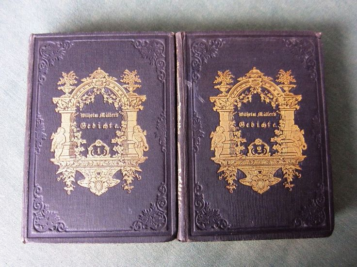 Wilhelm Müller s Gedichte Miniatur-Ausgabe 2 Bände 1850 | eBay
