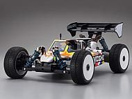 Kyosho Inferno MP9 TK14 Kit - Built for faster speed than the former TKI3, the new TKI4 features revised front/rear suspension for improved cornering stability and sharp control characteristics. A newly designed body and rear wing produces superior aerodynamics for high-performance cornering and traction.