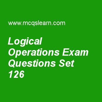 Practice test on logical operations, computer architecture quiz 126 online. Practice computer architecture and organization MCQsquestions and answers to learn logical operations test with answers. Practice online quiz to test knowledge on logical operations, network topology, google warehouse scale, physical infrastructure and costs, what is pipelining worksheets. Free logical operations test has multiple choice questions as mips instruction addi $s1,$s2,100. can be simplified into…