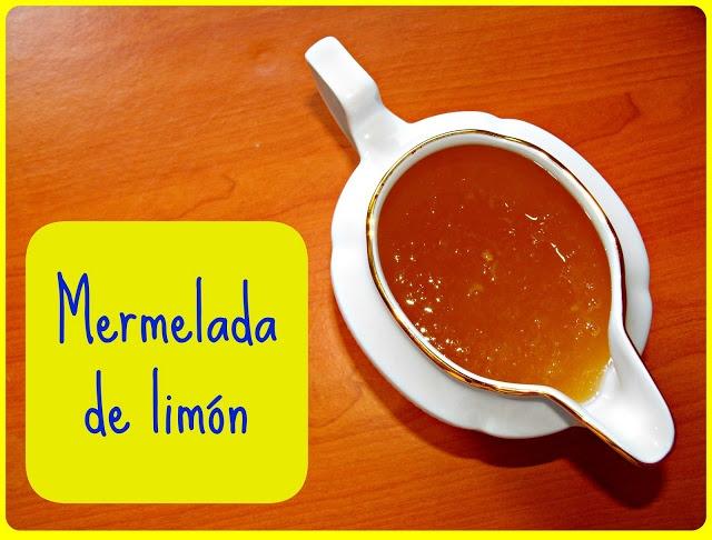 Mermelada de limón en panificadora
