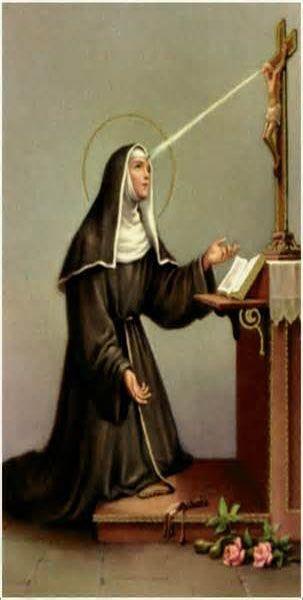 Santa Rita de Casia, (en italiano: Rita da Cascia), (* Roccaporena, 1381 - † Cascia, 1457). Festividad 22 de mayo. Patronazgo: Causas imposibles, problemas maritales.