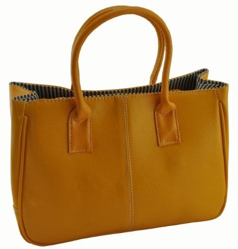 Fashion Women Korea Simple Style PU leather Clutch Handbag Bag Totes Purse Brown