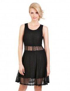 Lace skater dress - Black dress