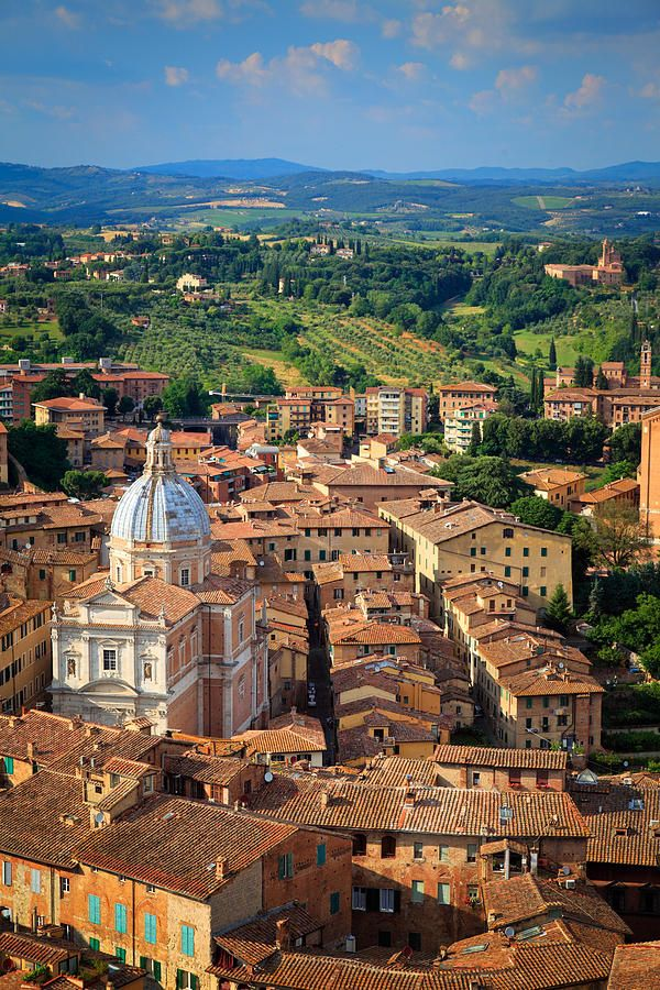 Siena From Above Photograph by Inge Johnsson - Siena From Above Fine Art Prints and Posters for Sale