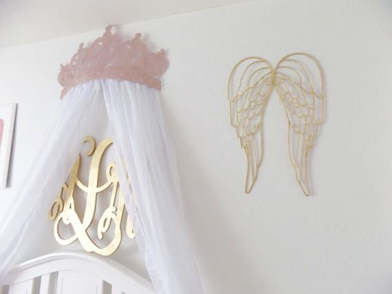 metal angel wing wall decor by wakeupsweetpea on etsy