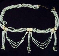 Vibrant White And Golden Designer Waist Belt SKU: NCN732 RS.2,577 bit.ly/1W4lXvs