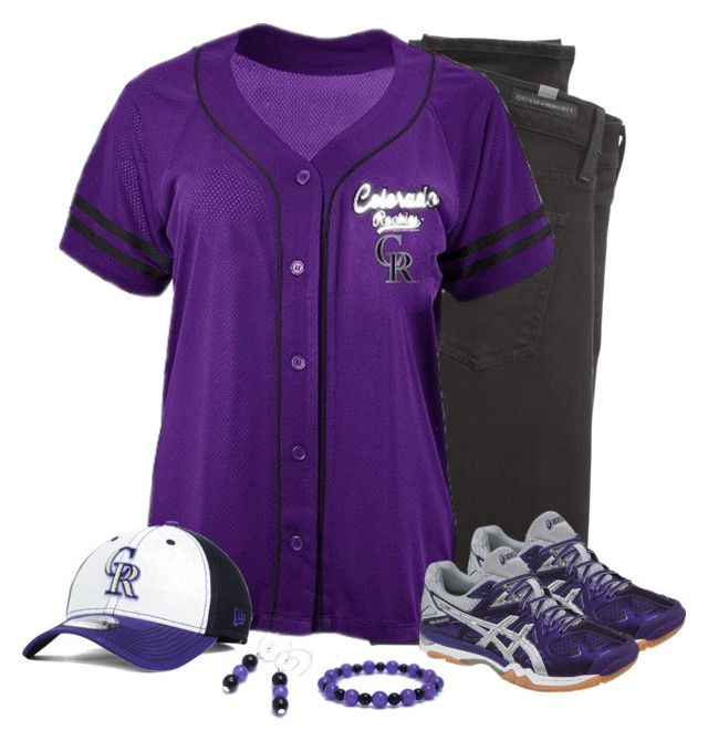 Colorado Rockies Game Day by carriefdix on Polyvore featuring Citizens of Humanity, Asics and New Era