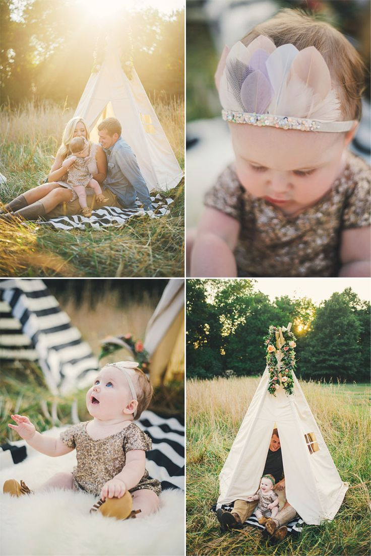 """Family photo // A Tiny Arrow Feather Pixie Crown """"Moon Stone"""" Images by Connection_Photography_FamilyNC13 #atinyarrow #feathercrowns"""