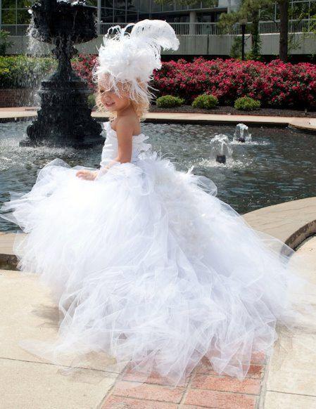 Flower Girl Miniature Bride Pageant long tutu by LittleMissThangs, $75.00