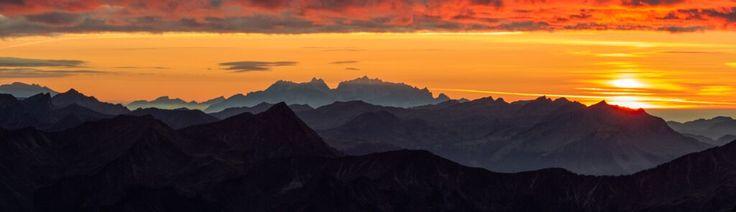 Sonnenuntergang Kleinwalsertal