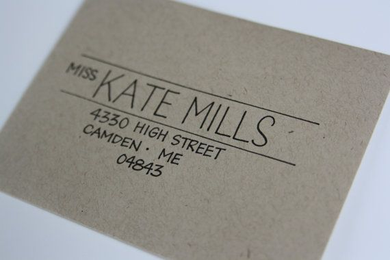 Hand Printed Envelopes by inkybug on Etsy | I like this idea for every day letter mailings too