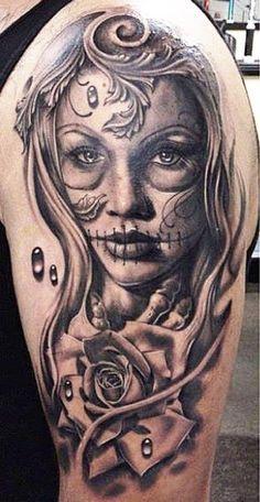 tatuajes de catrinas para mujeres 48