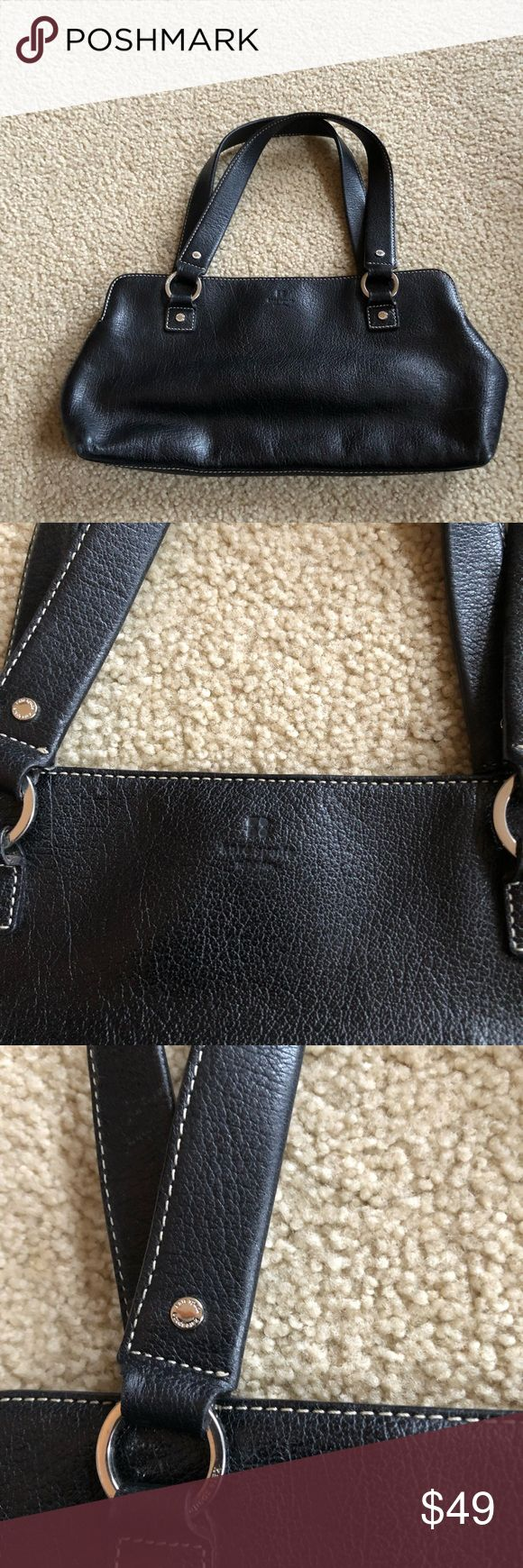 Classic Black Leather Coach Satchel Classic Black Leather Coach Satchel Great shape! Coach Bags Satchels