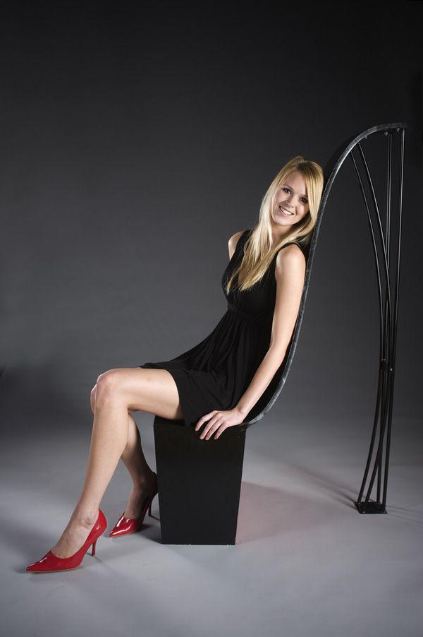 Black High Heel #Chair by Miranda Anderson