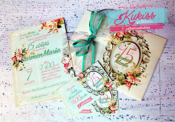 Invitaciones para 15 a os estilo vintage invitaciones for Tarjetas de 15 anos vintage