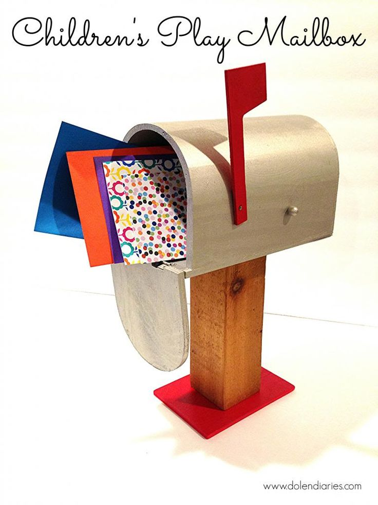 Makeover a wooden mailbox from the craft store for your child's dramatic play.