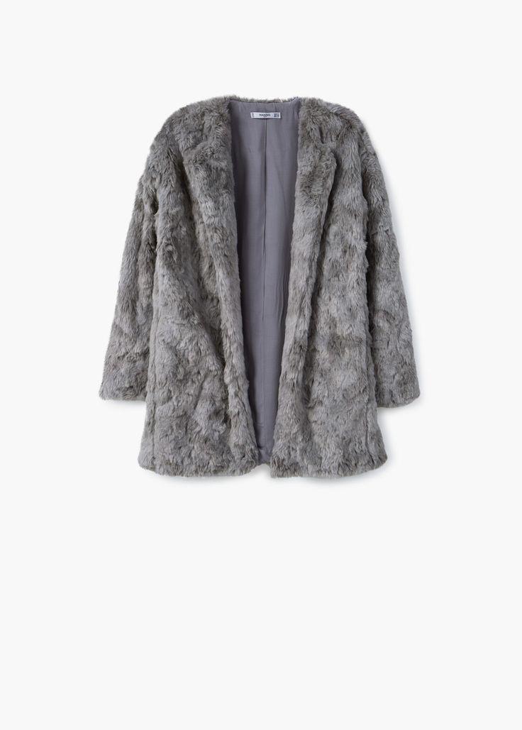Manteau fourrure synthétique | MANGO 70€