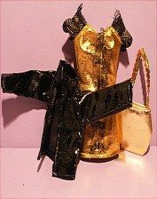 """Clothing and bag for fashion doll size 11 1/2""""."""