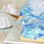 Beach sand cookies by recipe by 1 Fine Cookie, ocean, beach, desserts, recipes, blue, green, hard, candy, edible, party, wedding, ideas, san...