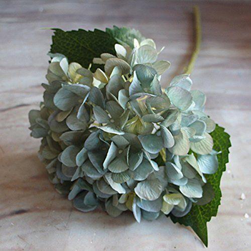 Miryo 1 x pieza de hortensia falsa de tela flores for Plantas decorativas artificiales df
