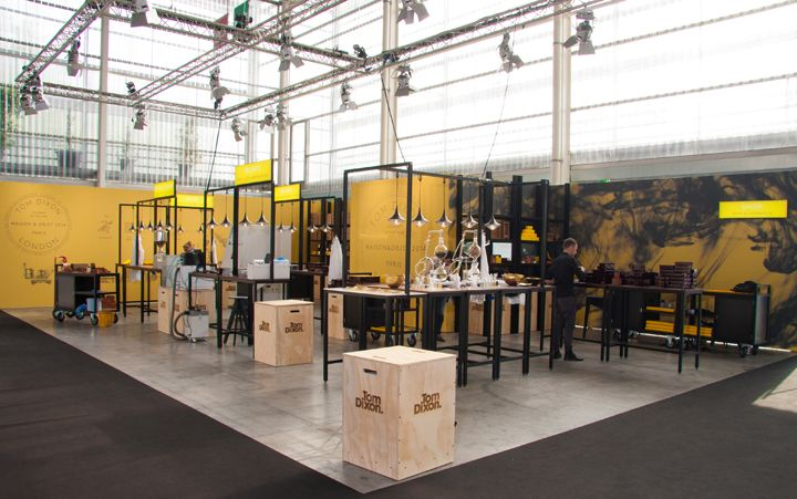 Tom Dixon booth by Unibox Modular System at Maison et Objet