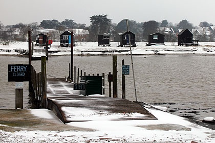 Photos of February 2012 snow by Sarah Groves    Southwold Harbour