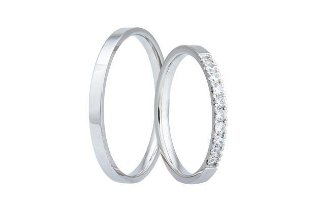 Snubní prsteny - model č. 319/02 - Zlatnictví Rýdl