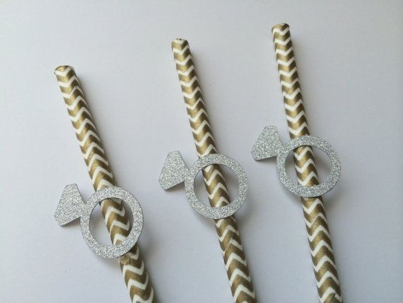 20 Chevron Paper Straws with Engagement by PaperTrailbyLauraB