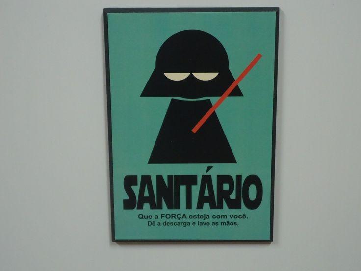 placa de banheiro star wars frete grátis